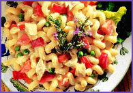 Cheesy Macaroni With Vegetables
