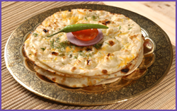 Spring Onion Parathas With Chinese Stuffing